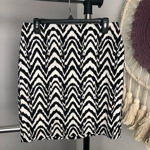 Banana Republic Chevron Zebra Print Pencil Skirt